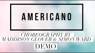 Americano line dance demo, choreography by Simon Ward and Maddison Glover