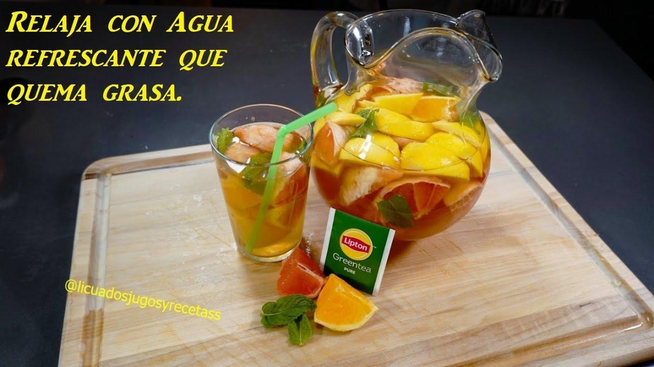 Toronja y Naranja con Té verde derrite grasa bien fuerte..