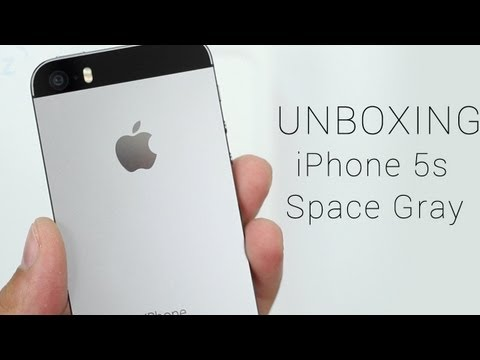 Space Gray iPhone 5s Unboxing, Hands On
