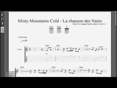 The Misty Moutains Cold - La Chanson Des Nains - Guitar Pro tabs