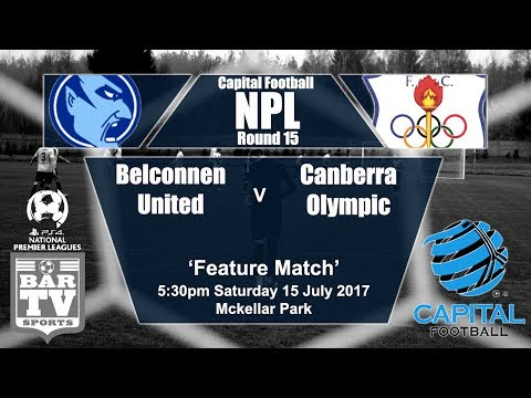 2017 Capital Football - Round 15 - Belconnen United v Canberra Olympic