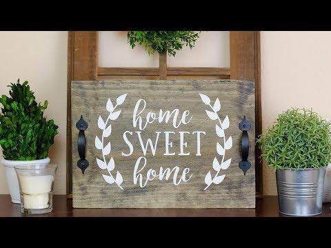 DIY Farmhouse Decor - DIY Farmhouse Wood Tray | Simply Dovie