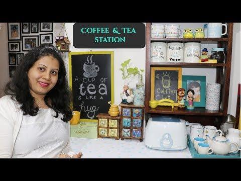 Tea & Coffee Station   Kitchen Organization Ideas   Countertop Organization   Maitreyee's Passion