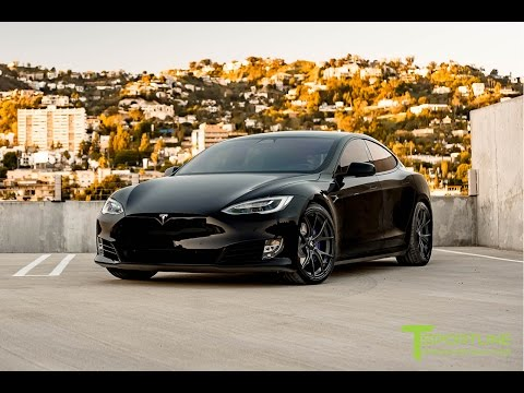 Tesla Model S P100D Black with Custom Purple Accents & Trim: Fully Customized Exterior & Interior