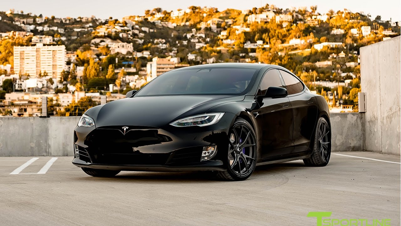 Tesla Model S P100D Black with Custom Purple Accents ...