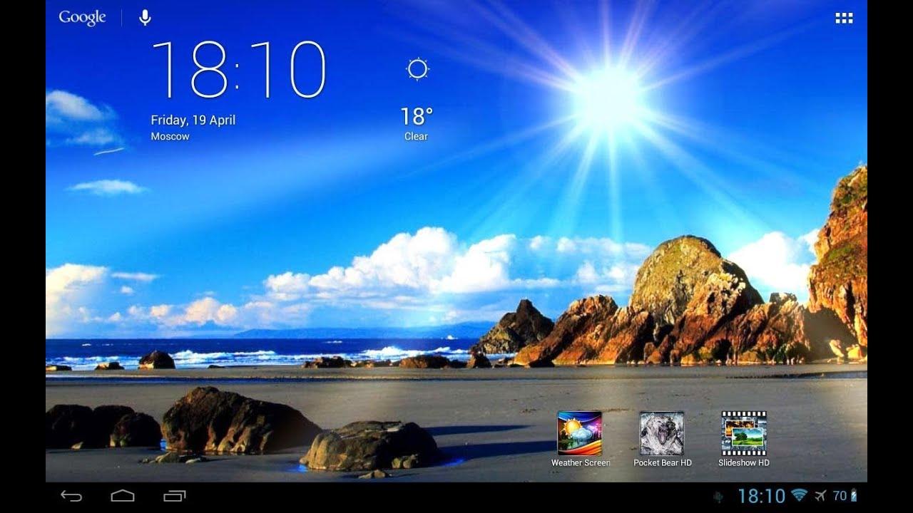 [App] Weather Screen Live Wallpaper [DE] - YouTube
