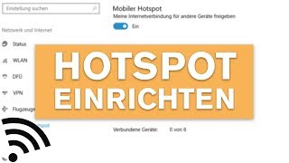 PC als WLAN Hotspot einrichten - Windows 10 Tutorial