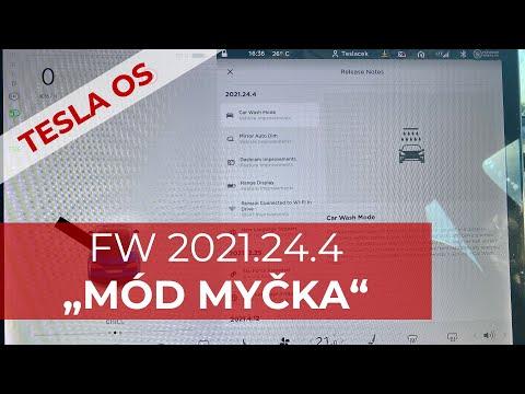 TESLA OS FW 21.24.4 MÓD MYČKA
