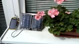 Darmowa energia słoneczna napełnia potem kilka smartfonów