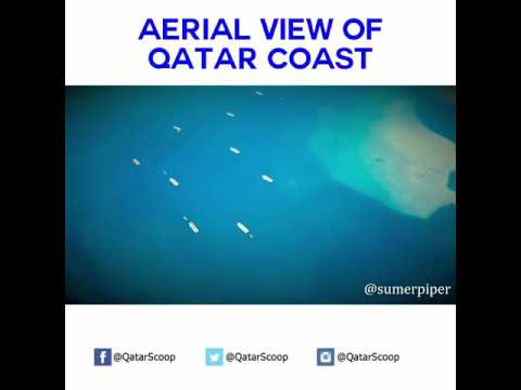 Aerial View of Qatar Coast