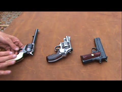 Three Basic Handgun Types