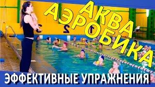 Упражнения для аквааэробики. Аквааэробика для похудения. Бассейн  Олимпийский Омск