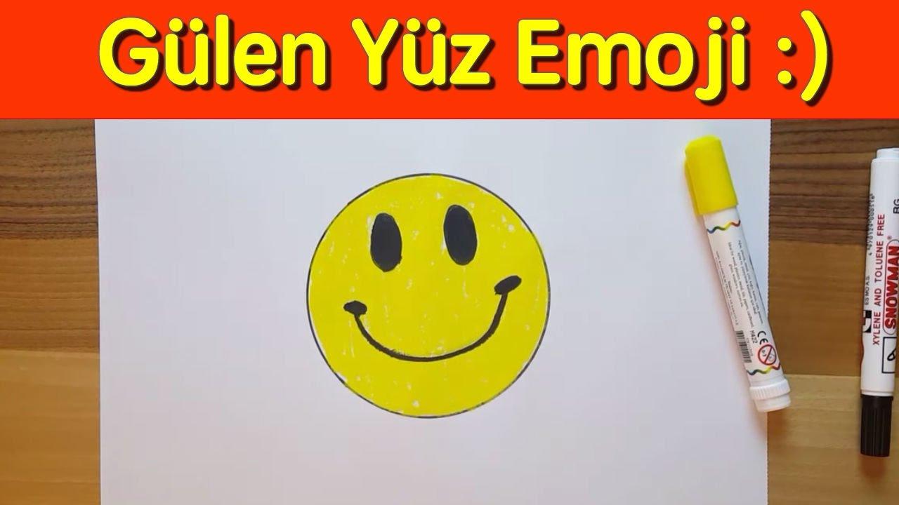 Gülen Surat Emoji Nasıl çizilir Başlangıç Seviyesi How To