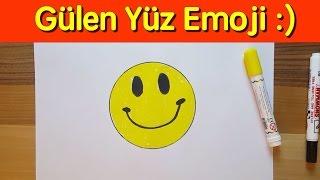 Gülen Surat Emoji Nasıl Çizilir ? ( Başlangıç Seviyesi ) / How to Draw Emojis - Smiley Face Emoji
