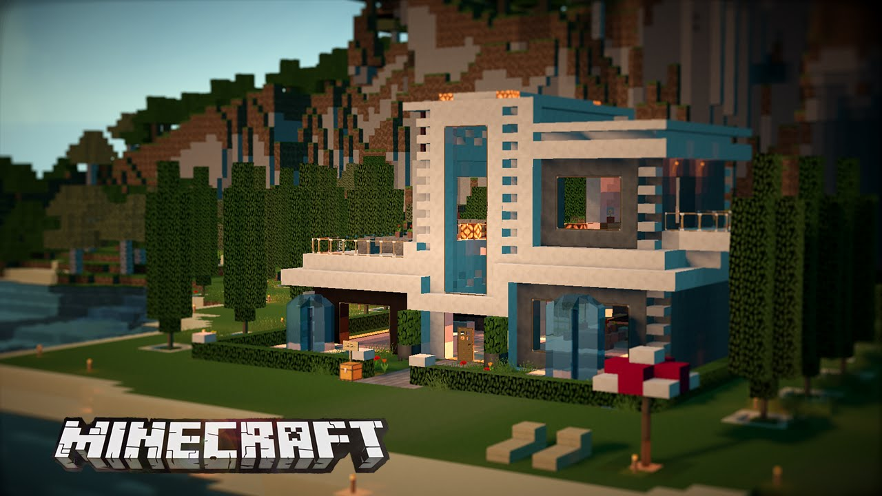 Casa moderna y de lujo en minecraft casas de subs youtube for Minecraft videos casas