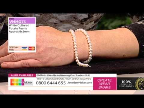 Genuine Pearls and Making Gemstone Jewellery - JewelleryMaker LIVE 25/11/14