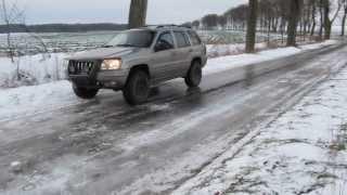 goodyear wrangler duratrac ice test jeep grand cherokee wj quadra drive