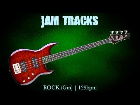 Rock Bass Backing Track (Gm) | 129 Bpm - MegaBackingTracks