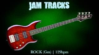 Rock Bass Backing Track (Gm) | 129 Bpm - MegaBackingTracks