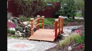Handcrafted Redwood Garden Bridges Tjb