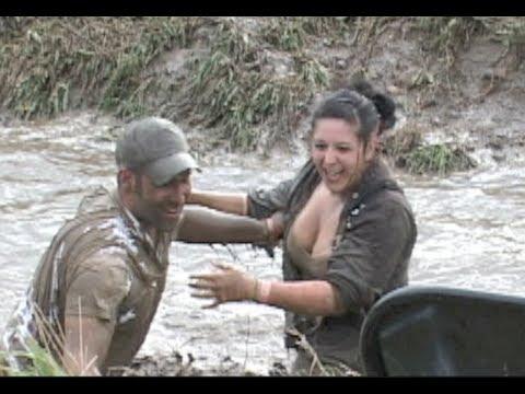 Female Midget Mud Wrestleing