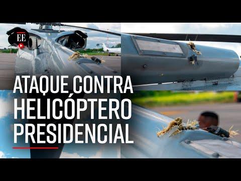 Así quedó el helicóptero de Iván Duque tras el atentado - El Espectador