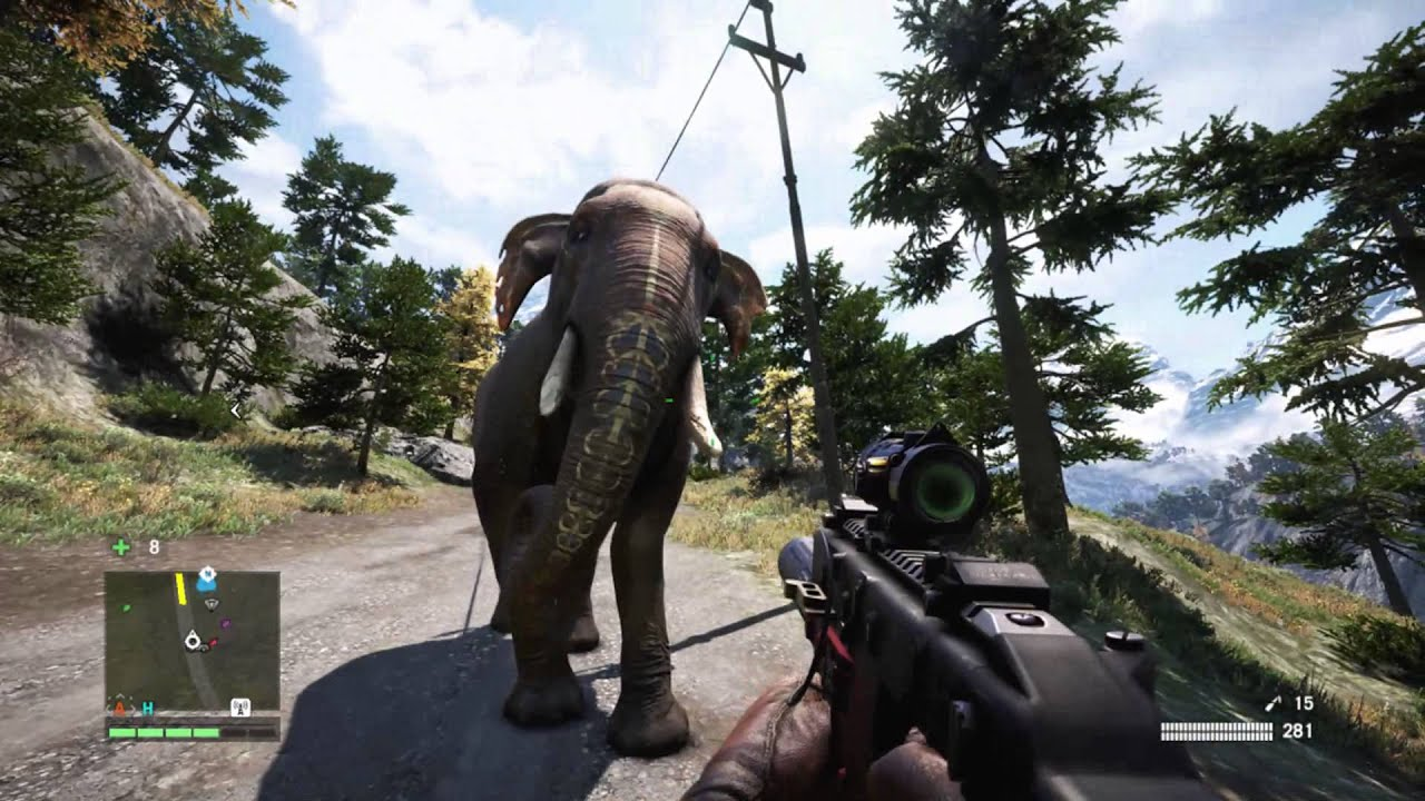 Far Cry 4 Wallpaper Elephant: Elephant Riding Basics + Painted Pachyderms UPlay Reward