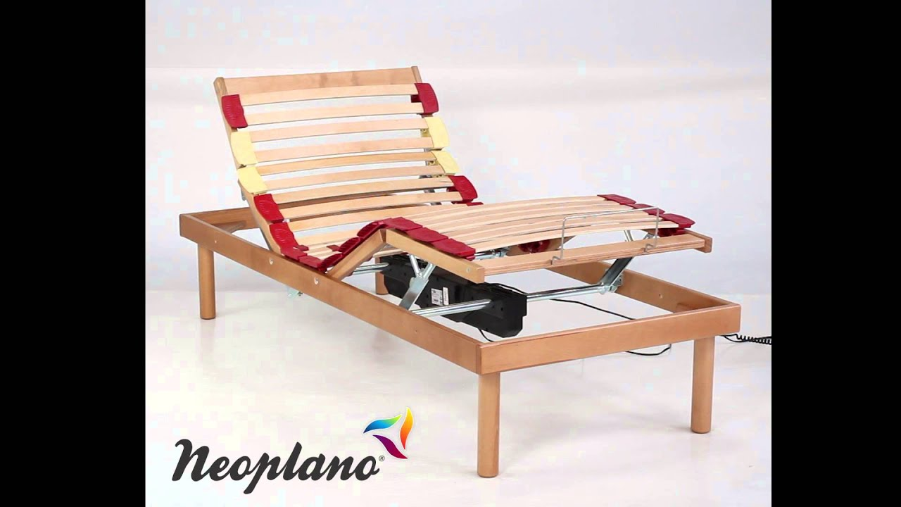 Adjustable Bed Base >> Electriccaly Adjustable Bed Base in Wood Comfort by Neoplano - YouTube