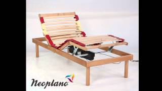 Electriccaly Adjustable Bed Base In Wood Comfort By Neoplano