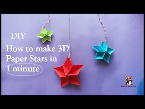 DIY 3D Paper stars | Origami | Christmas decoration ideas | thebestlittle