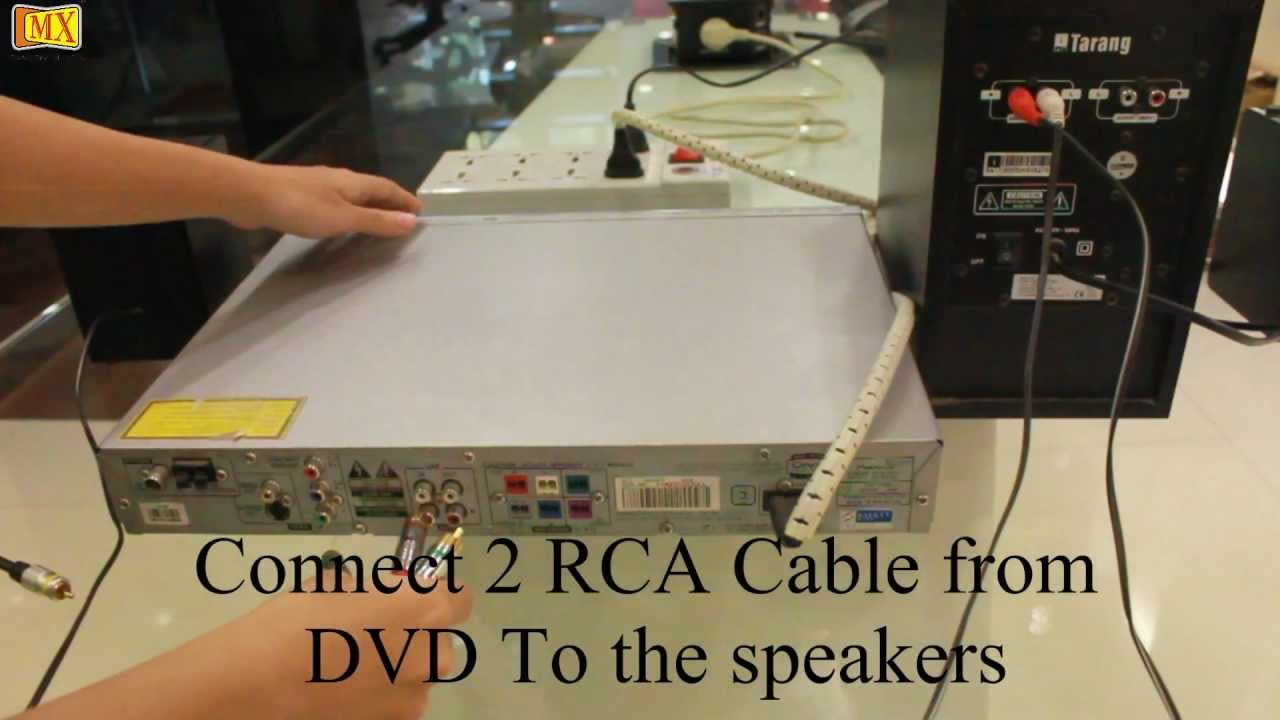How to connect Computer Speakers to the DVD Player - YouTube