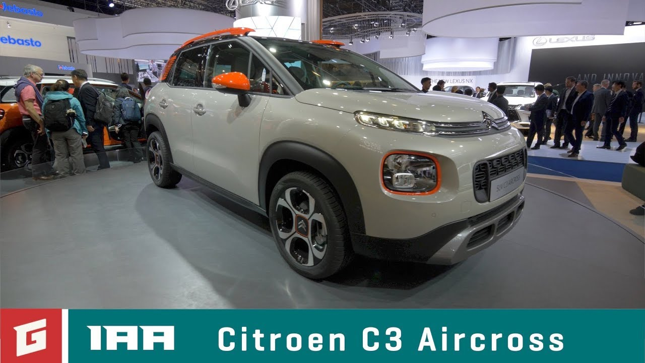 Citroen C3 Aircross - SUV - IAA FRANKFURT 2017- GARAZ.TV - YouTube