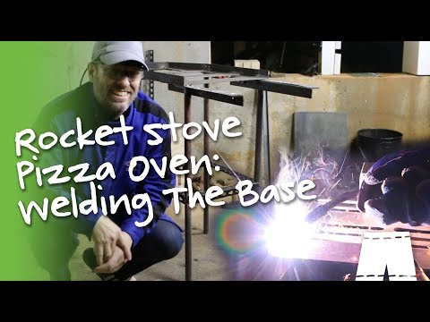 How To Make A Rocket Stove Pizza Oven | Welding The Base