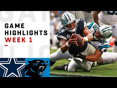Cowboys vs. Panthers Week 1 Highlights | NFL 2018
