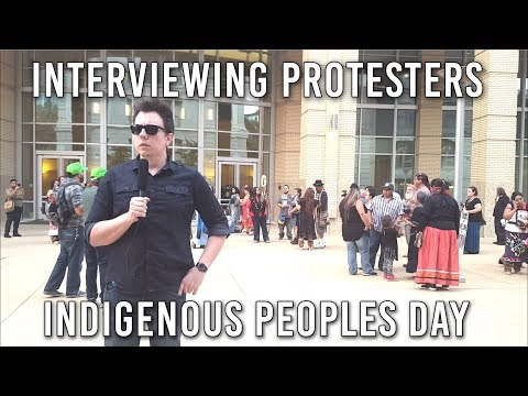 Indigenous People's Day Protest