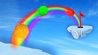 THE IMPOSSIBLE RAINBOW GOLFCOURSE! (Golf It)
