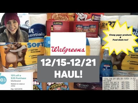 WALGREENS HAUL 12/15-12/21 | 10% Off $35 Deals On Paper Products, Food, & More!