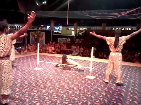 African american Acrobat at circus circus