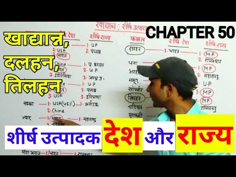 MAXIMUM PRODUCTION STATES and COUNTRIES   INDIAN GEOGRAPHY IN HINDI FOR ALL GOVT EXAM
