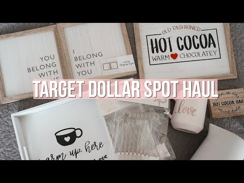 TARGET DOLLAR SPOT HAUL 2019 | Valentine's Day + Farmhouse Decor!!