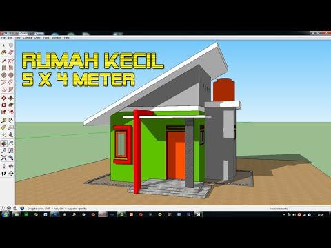 Desain Kamar Tidur Minimalis Ukuran 5x4  desain rumah kecil 5 x 4 meter minimalis modern tipe 21