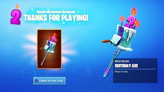 * NEW * HOW to GET BIRTHDAY SKINS, PRIZES and V-BUCKS in Fortnite FOR FREE! (Fortnite's 2nd BIRTHDAY)