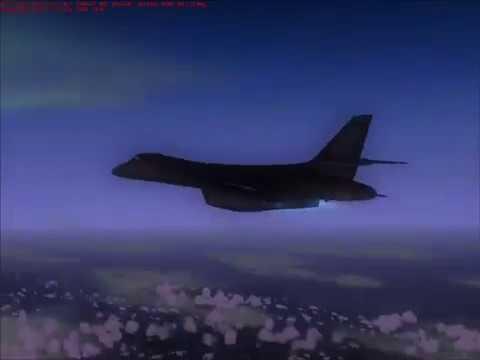 (FS2004) B-1B Lancer test flight