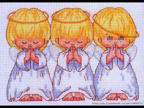 вышивание крестиком ангелочки картинки
