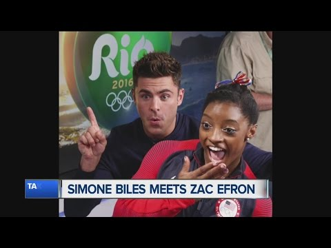 Simone Biles met Zac Efron and it was awesome