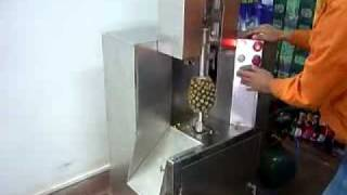 NEW PEELING and CORING MACHINE for MELON and PINEAPPLE-Peeler.avi