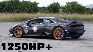 1250HP Lamborghini Huracan Twin Turbo by GoschaTurboTech 0-350km/h