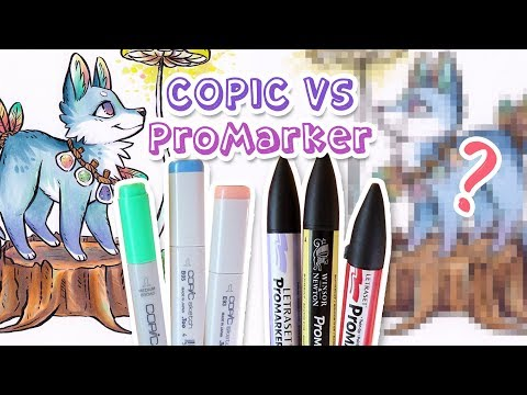 BEST MARKERS? COPIC VS PROMARKER and Drawing A Cute Dog
