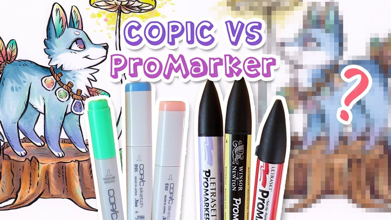 Best Markers Copic Vs Promarker And Drawing A Cute Dog