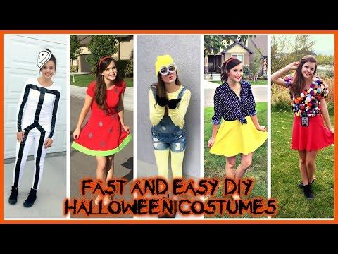 DIY HALLOWEEN COSTUMES Super Easy Cheap Last Minute Ideas!   Tiffany   Vlog